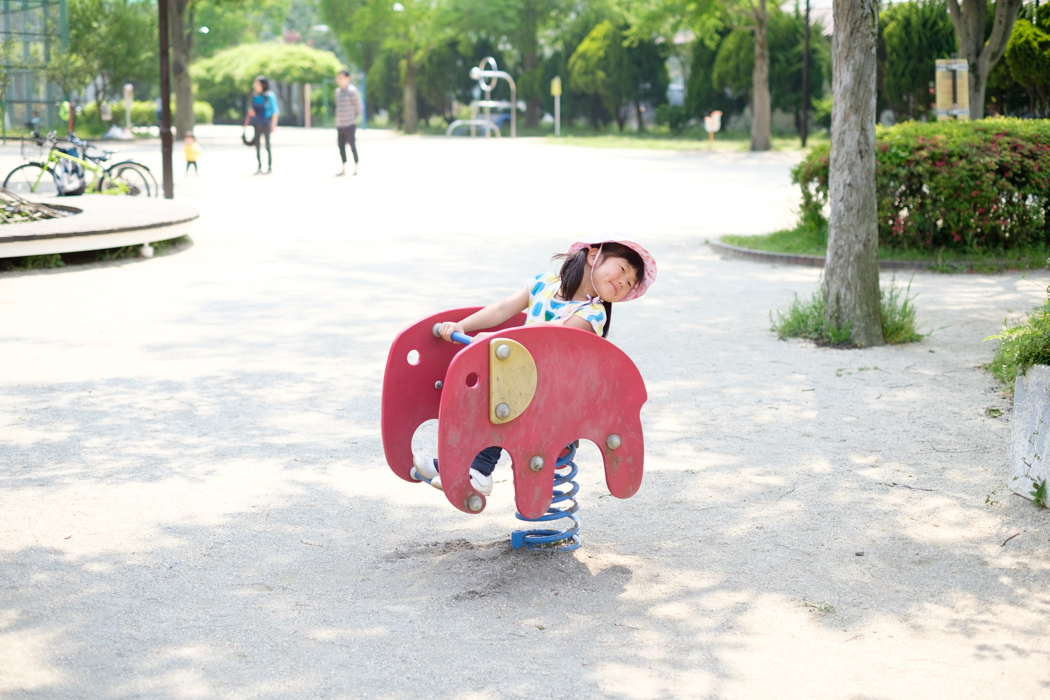 ゾウの乗り物