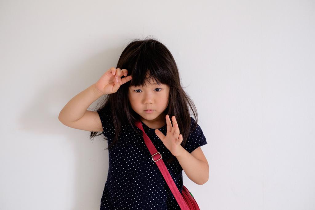 長女4歳8ヶ月、髪を切りました。