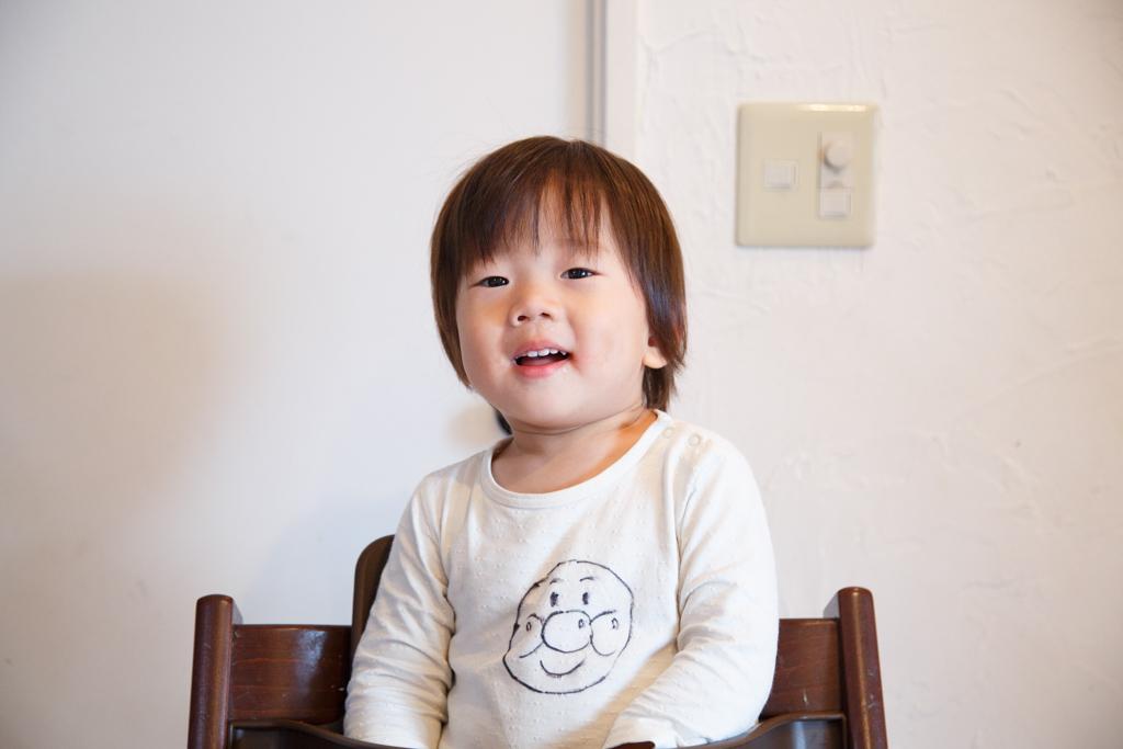 次男2歳、髪を切りました。