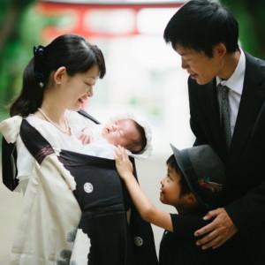 第二子のお宮参り。ご祈祷からご会食までのひとときをご一緒して。(出張撮影/東京)