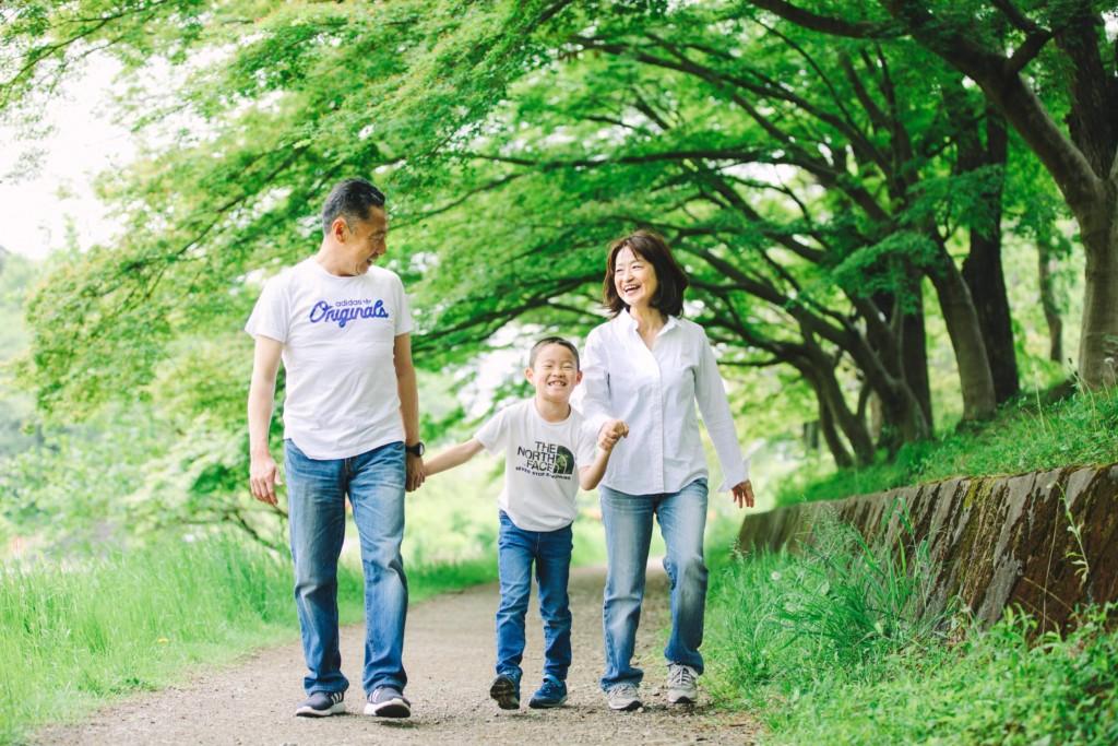新緑の撮影会家族写真