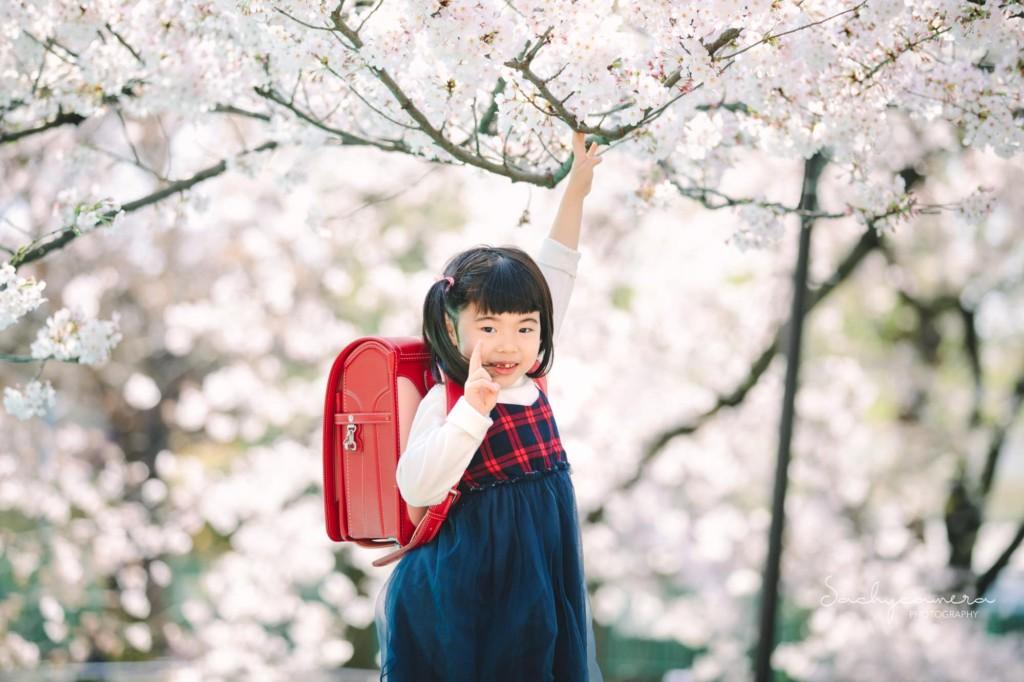 春の撮影会ランドセル女の子