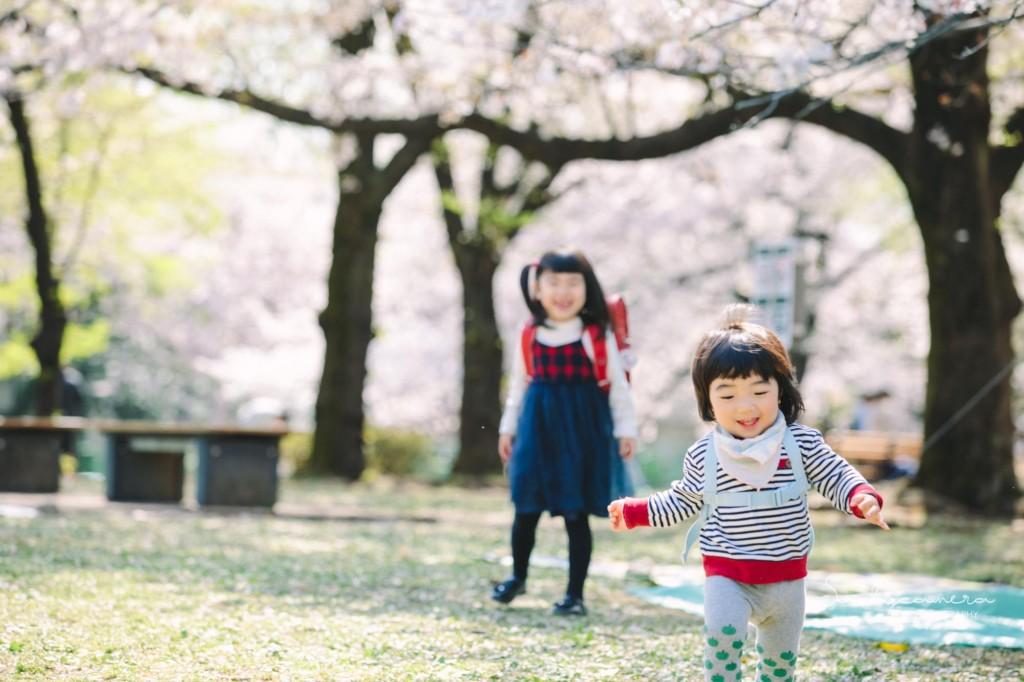 春の撮影会姉妹