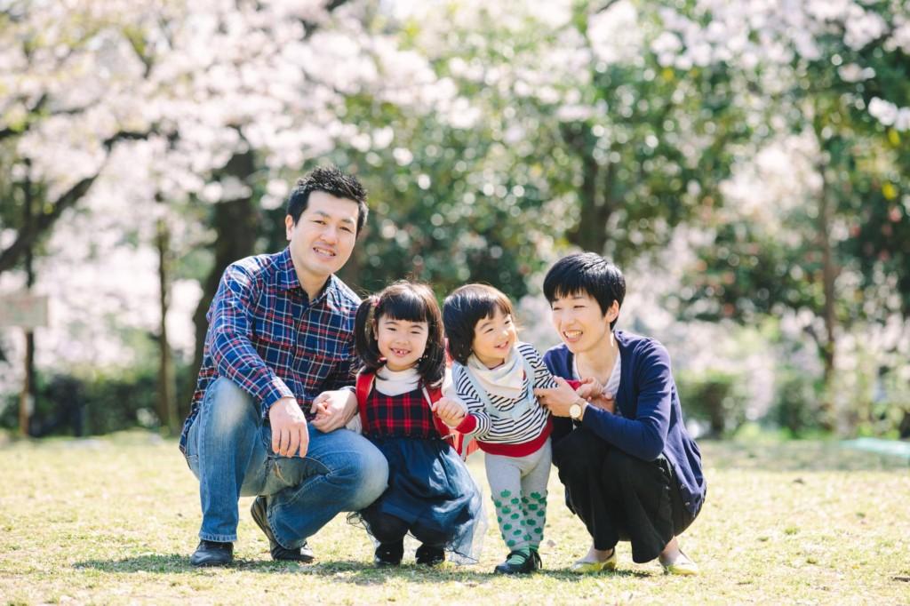 春の撮影会家族集合写真