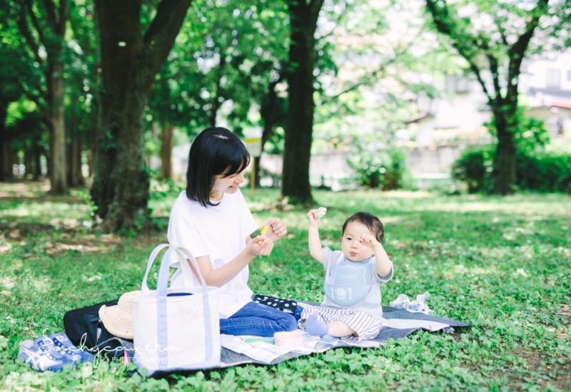 育休中のママと赤ちゃんの日常写真