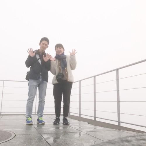 霧だらけの展望台