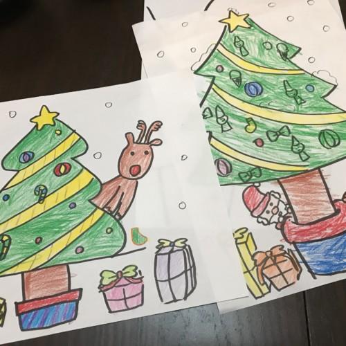 クリスマスツリーの塗り絵