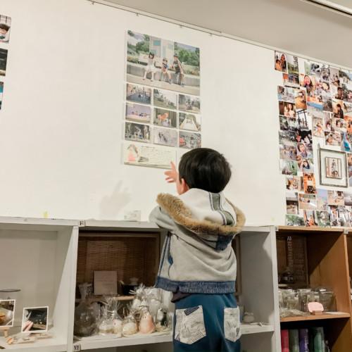 親ばか写真展の搬入1