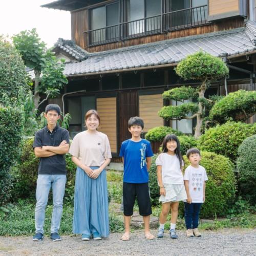 移住2ヶ月目の家族写真