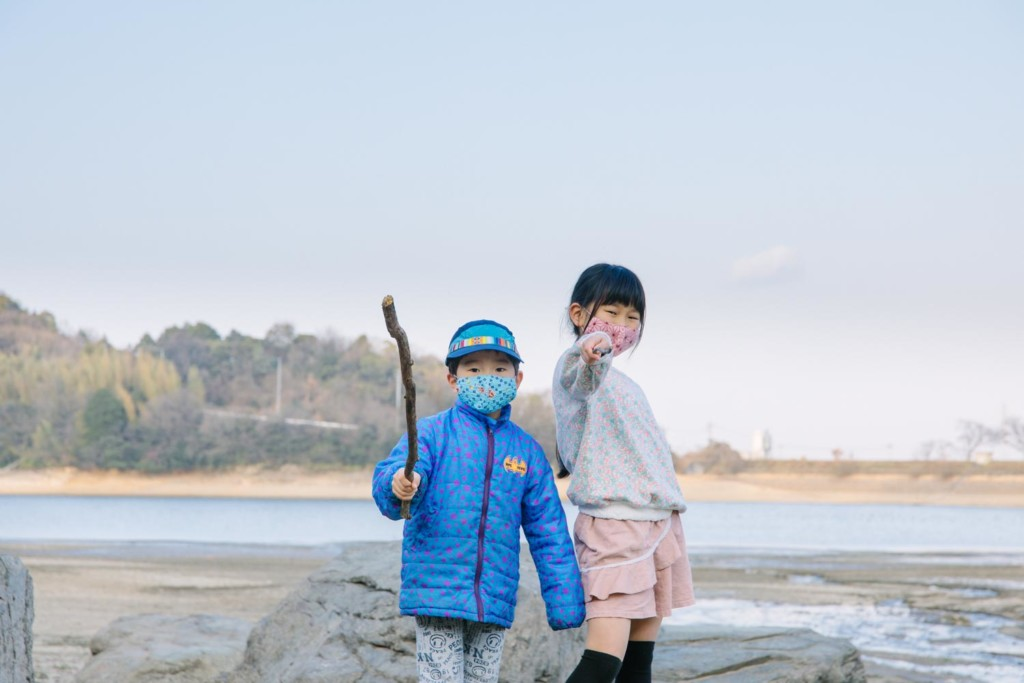 子供達と散歩